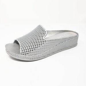 Jeffrey Campbell Havana Silver Wedge Sandals